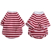 Iconic Pet - Pretty Pet Red and White Striped Top - Small