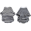 Iconic Pet - Pretty Pet Black and White Striped Top - X Small