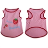 Iconic Pet - Pretty Pet Pink Strawberry Top - X Small