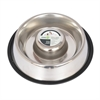 Slow Feed Stainless Steel Pet Bowl for Dog or Cat - Large - 48 oz
