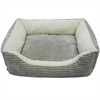Luxury Lounge Pet Bed - Light Gray - Small