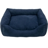 Iconic Pet - Luxury Swaddlez Bolster Pet Bed - Denim - Medium