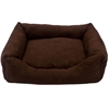 Iconic Pet - Luxury Swaddlez Bolster Pet Bed - Cocoa - Large