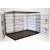 "24"" Foldable Double Door Pet Dog Cat Training Crate with Divider"