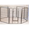 "Iconic Pet - Heavy Duty Metal Tube pen Pet Dog Exercise and Training Playpen - 48"" Height"