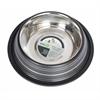Color Splash Stripe Non-Skid Pet Bowl 24 oz - Black