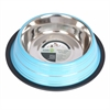 Iconic Pet - Color Splash Stripe Non-Skid Pet Bowl 64 oz - Blue