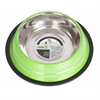 Iconic Pet - Color Splash Stripe Non-Skid Pet Bowl 8 oz - Green