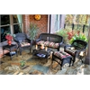 Tortuga Outdoor Portside 6Pc Seating - Dark Roast - Eastbay Pompeii
