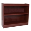 "Excalibur heavy duty shelf 36""H wood veneer bookcase, Medium Cherry"