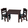 Guidecraft Doll Table & Chair Set Espresso