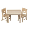 Guidecraft Doll Table & Chair Set Natural