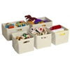 Tan Storage Bins - Set of 5