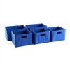 Blue Storage Bins - Set of 5