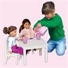 Doll Table and Chair Set White