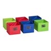 Fabric Bins: Set of 6 Multicolored