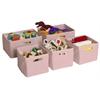 Pink Storage Bins-Set of 5