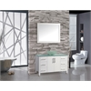 "MTD Vanities Cuba 48"" Single Sink Bathroom Vanity Set, White"