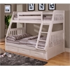 Twin over Full Bunk Bed with 3 Underbed Drawers and Two Mattresses in White