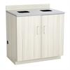 Hospitality Base Cabinet, Waste Receptacle Vanilla Stix/Grey