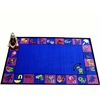 Kids World Carpets Alphabet Charlie Area Rug, 5' X 8'