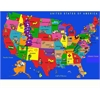 "Kids World Carpets USA Cartoon Map Area Rug, 6'6"" x 8'4"""