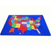 Kids World Carpets USA Map Area Rug, 7' x 11'