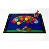 Kids World Carpets Rainbow Paint Area Rug, 5' x 8'