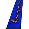 "Kids World Carpets Caterpillar Runner Blue Area Rug, 3'2"" x 9'"