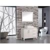 "MTD Vanities Aruba 40"" Single Sink Bathroom Vanity Set, White"