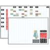 "Magna Visual Magnetic Work Plan Kit - 36"" x 24"" - Porcelain, Aluminum - White"