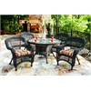 Tortuga Outdoor Portside 5Pc Dining Set - Dark Roast - Eastbay Pompeii