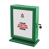 Customizable Wood Suggestion Box-Green