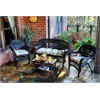 Tortuga Outdoor Portside 4Pc Seating - Dark Roast - Miranda Terrace Chamomile