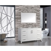 "Monaco 48"" Single Sink Bathroom Vanity Set, White"