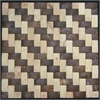 Legion furniture Coconut Tile, Cream & Walnut