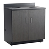 Hospitality Base Cabinet, Waste Receptacle Black/Asian Night