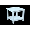 "Anderson Teak Kenzie 22"" Square Side Table w/ 2-Tier"