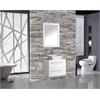 "Malta 24"" Single Sink Wall Mounted Bathroom Vanity Set, White"