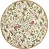 "Colonial 1783 Ivory Springtime Views 7'6"" Round Size Area Rug"
