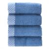 BedVoyage Rayon from Bamboo blend Resort Washcloth (4pk) in Indigo