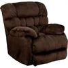 Flash Furniture Contemporary Sharpei Chocolate Microfiber Rocker Recliner