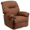 Flash Furniture Contemporary Calcutta Chocolate Microfiber Power Chaise Recliner with Push Button