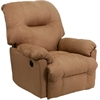 Flash Furniture Contemporary Calcutta Camel Microfiber Power Chaise Recliner with Push Button