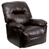 Flash Furniture Contemporary Bentley Brown Leather Chaise Power Recliner with Push Button