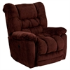 Flash Furniture Contemporary Temptation Merlot Microfiber Power Recliner with Push Button
