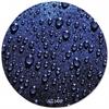 ALLSOP, INC. Plastic SlimLine Round Mouse Pad, Nonskid Back, Blue Raindrops