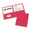 Avery Two-Pocket Folder, 20-Sheet Capacity, Red, 25/Box