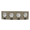 Cooper Classics Terminal Clock, Gray Metal Finish with Black Highlights, Under Plastic
