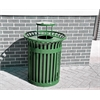 Frog Furnishings 32 Gal. Green Richmond Receptacle